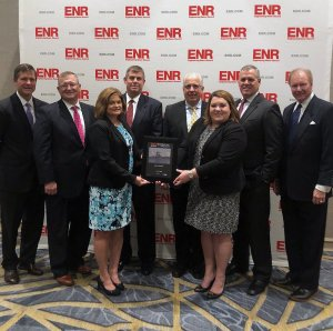 W. M. Jordan team members accept the Contractor of The Year award